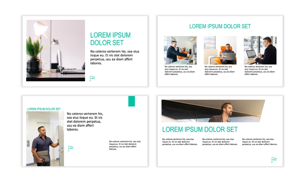 ROME - Teal - Business - Professional - Aesthetic - Clean - Minimal Slide 3