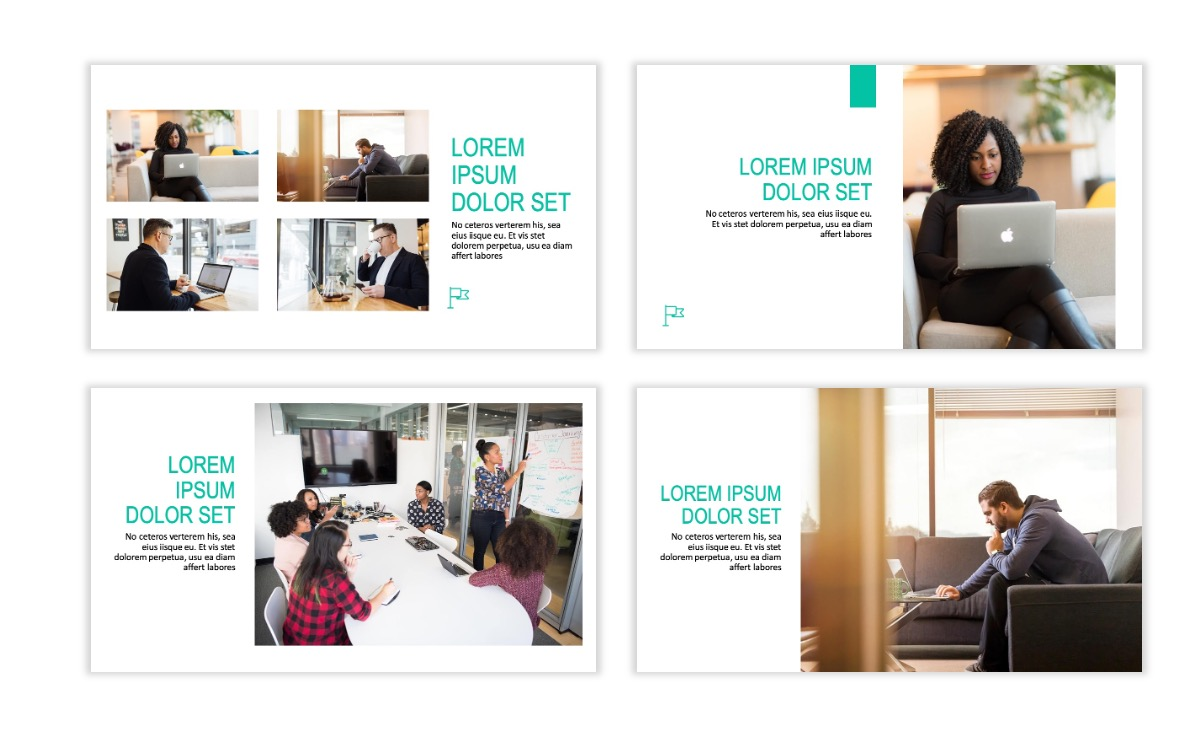 ROME - Teal - Business - Professional - Aesthetic - Clean - Minimal Slide 5