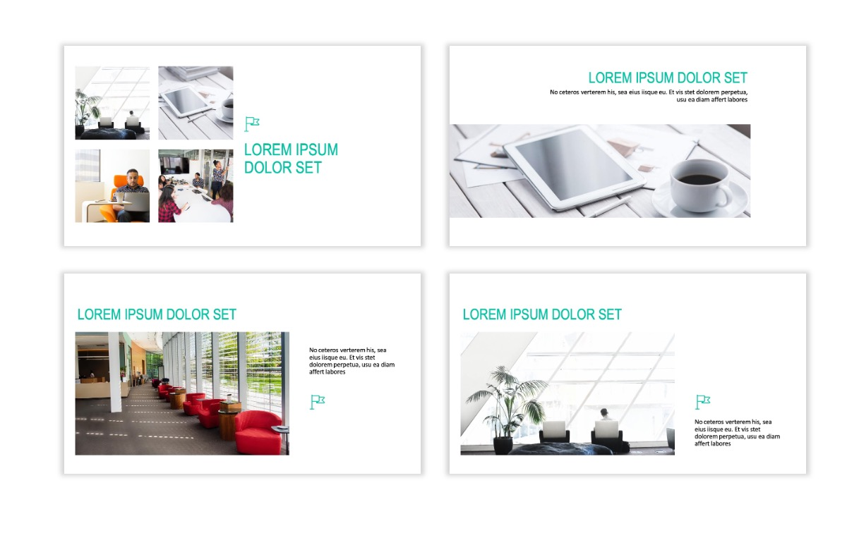 ROME - Teal - Business - Professional - Aesthetic - Clean - Minimal Slide 6