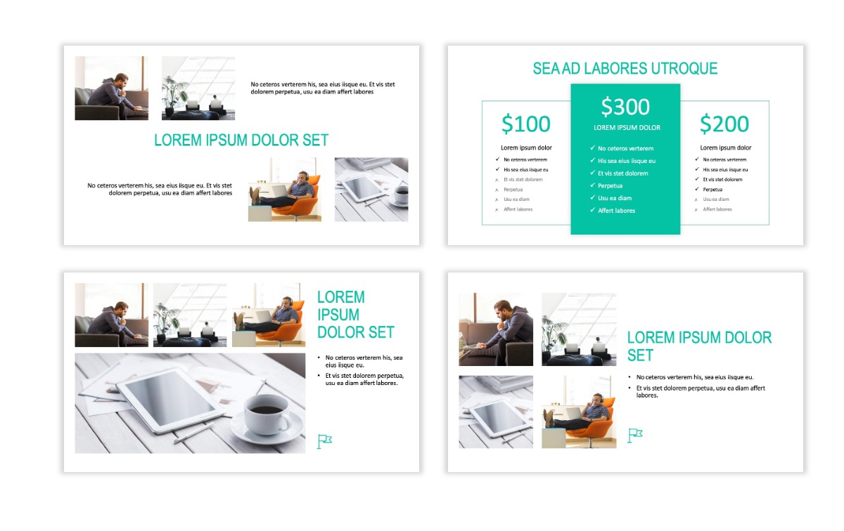 ROME - Teal - Business - Professional - Aesthetic - Clean - Minimal Slide 7
