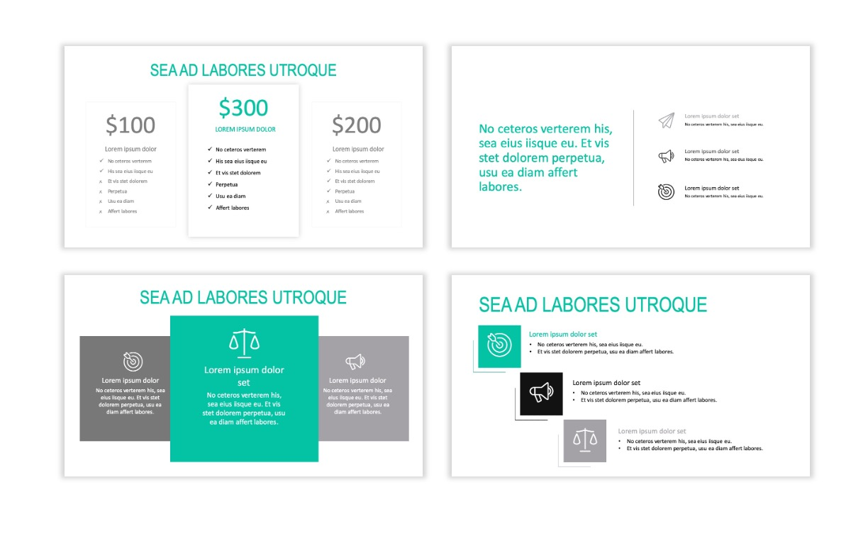 ROME - Teal - Business - Professional - Aesthetic - Clean - Minimal Slide 8