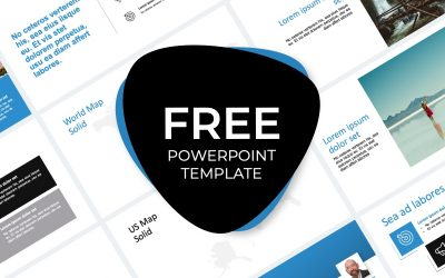 ROME TRAVEL BLUE FREE POWERPOINT TEMPLATE
