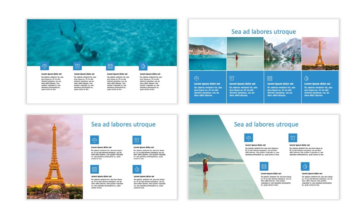 ROME - Travel - Blue - Aesthetic - Clean - Minimal Slide 13