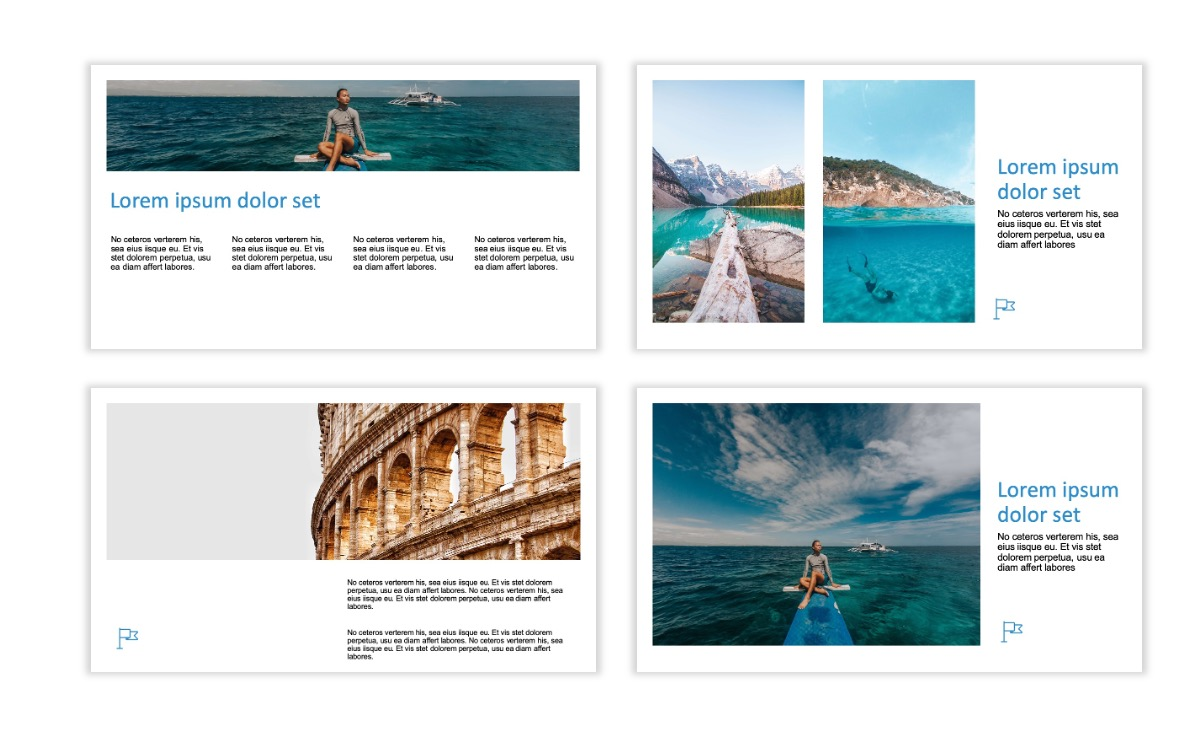 ROME - Travel - Blue - Aesthetic - Clean - Minimal Slide 4