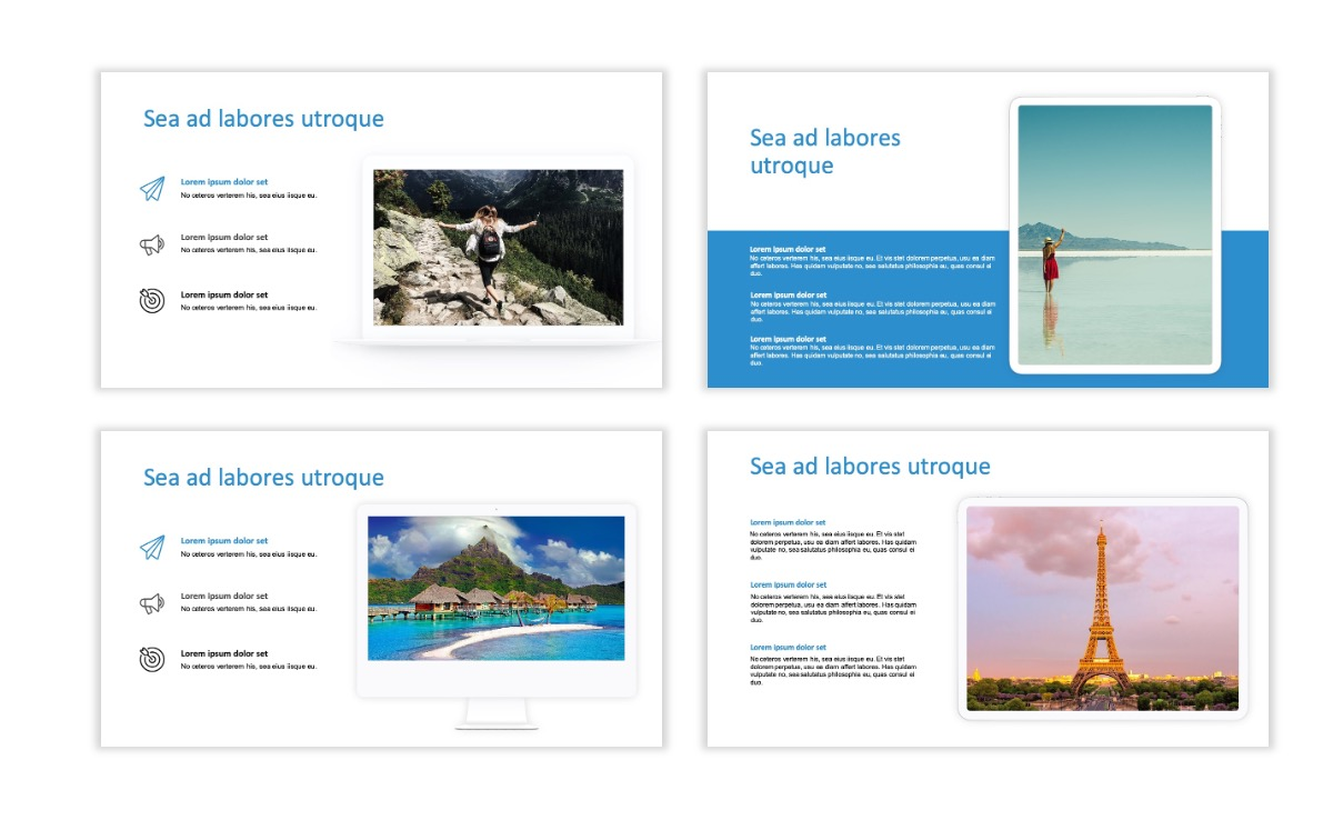 ROME - Travel - Blue - Aesthetic - Clean - Minimal Slide 9