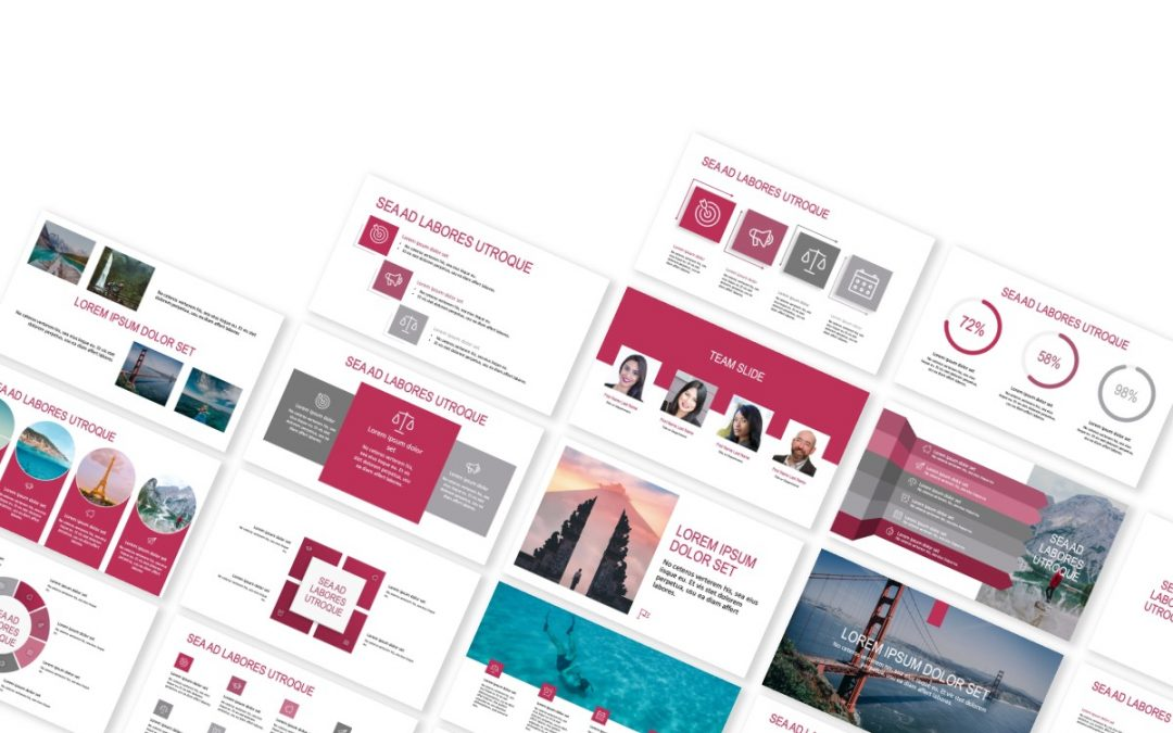 ROME TRAVEL PINK FREE POWERPOINT TEMPLATE