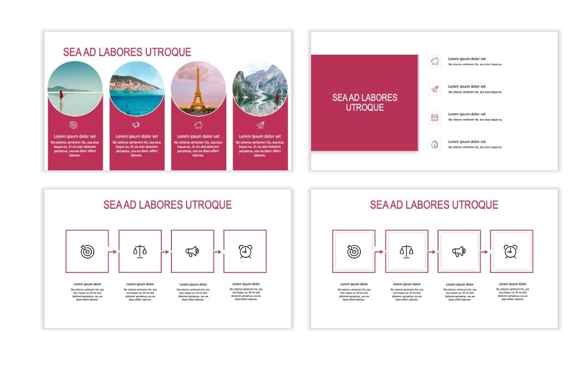 ROME - Travel - Pink - Aesthetic - Clean - Minimal Slide 14