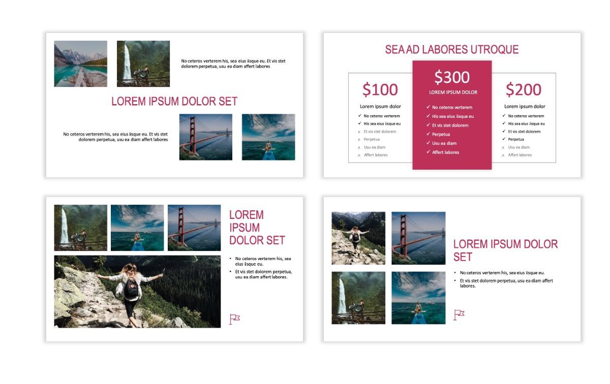 ROME - Travel - Pink - Aesthetic - Clean - Minimal Slide 7