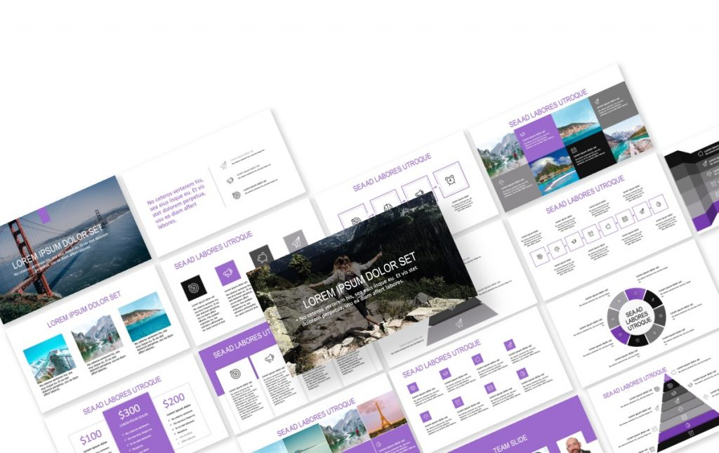 ROME TRAVEL PURPLE FREE POWERPOINT TEMPLATE