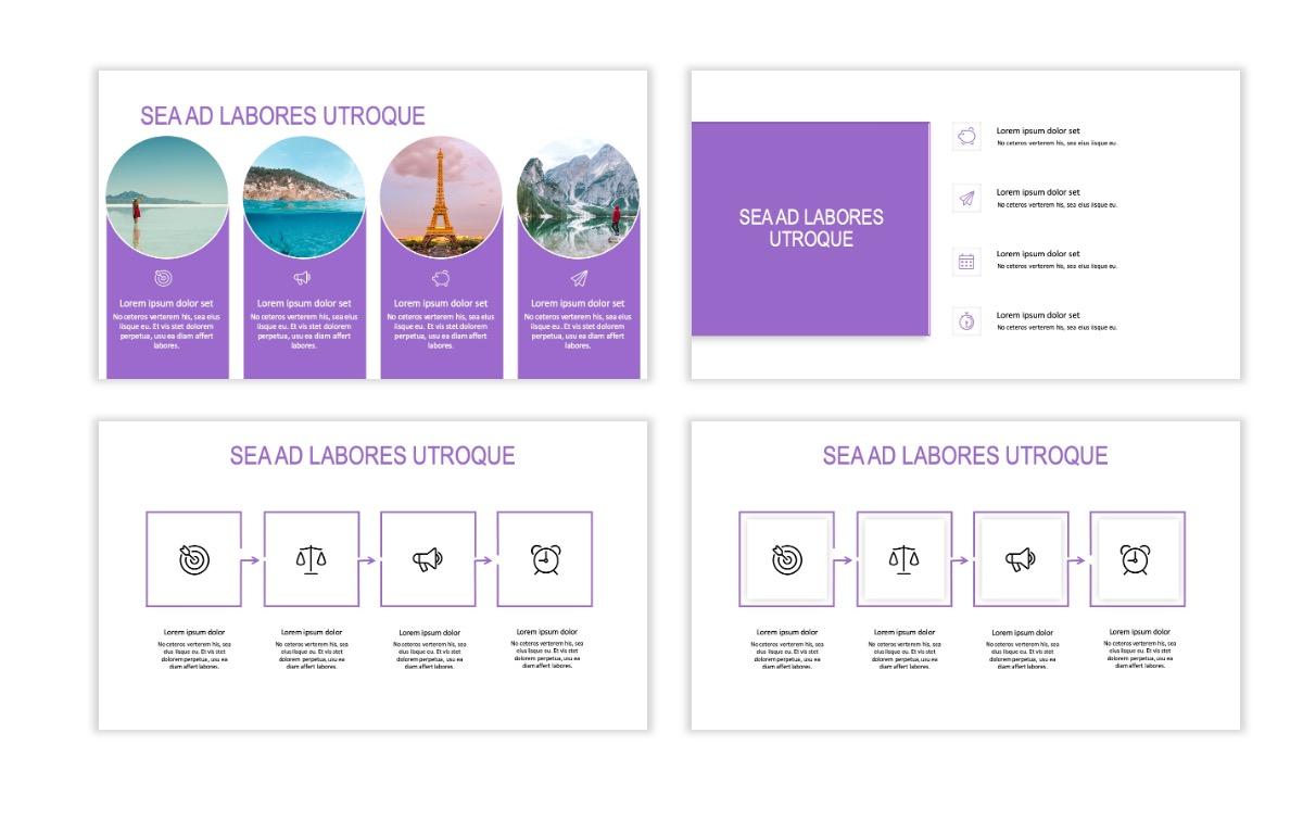 ROME - Travel - Purple - Aesthetic - Clean - Minimal Slide 14