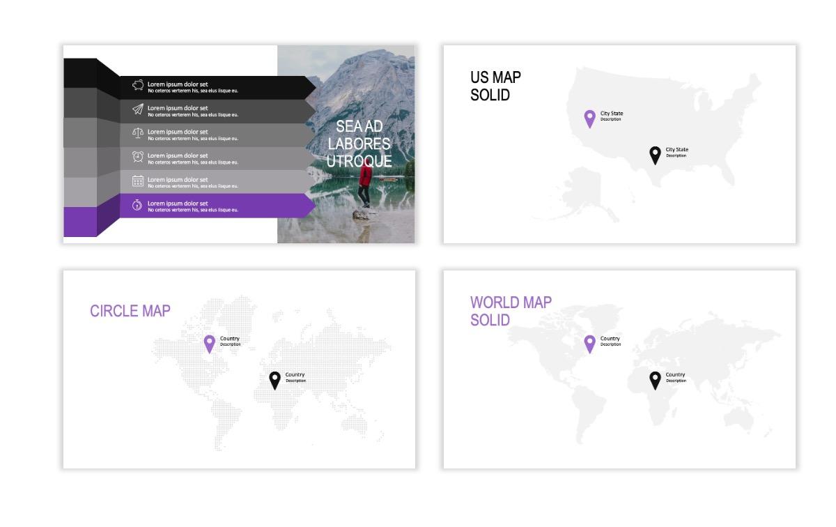 ROME - Travel - Purple - Aesthetic - Clean - Minimal Slide 22