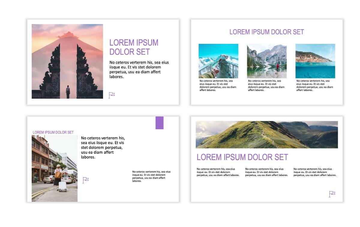 ROME - Travel - Purple - Aesthetic - Clean - Minimal Slide 3