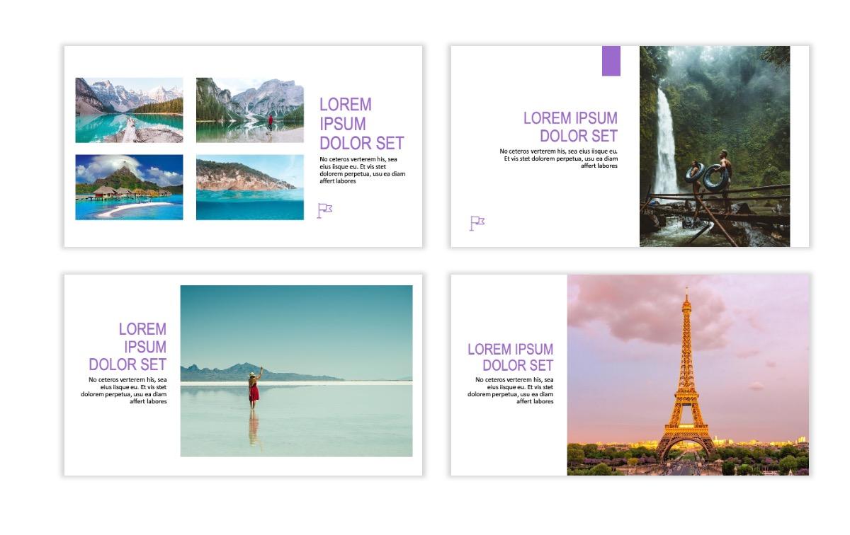 ROME - Travel - Purple - Aesthetic - Clean - Minimal Slide 5