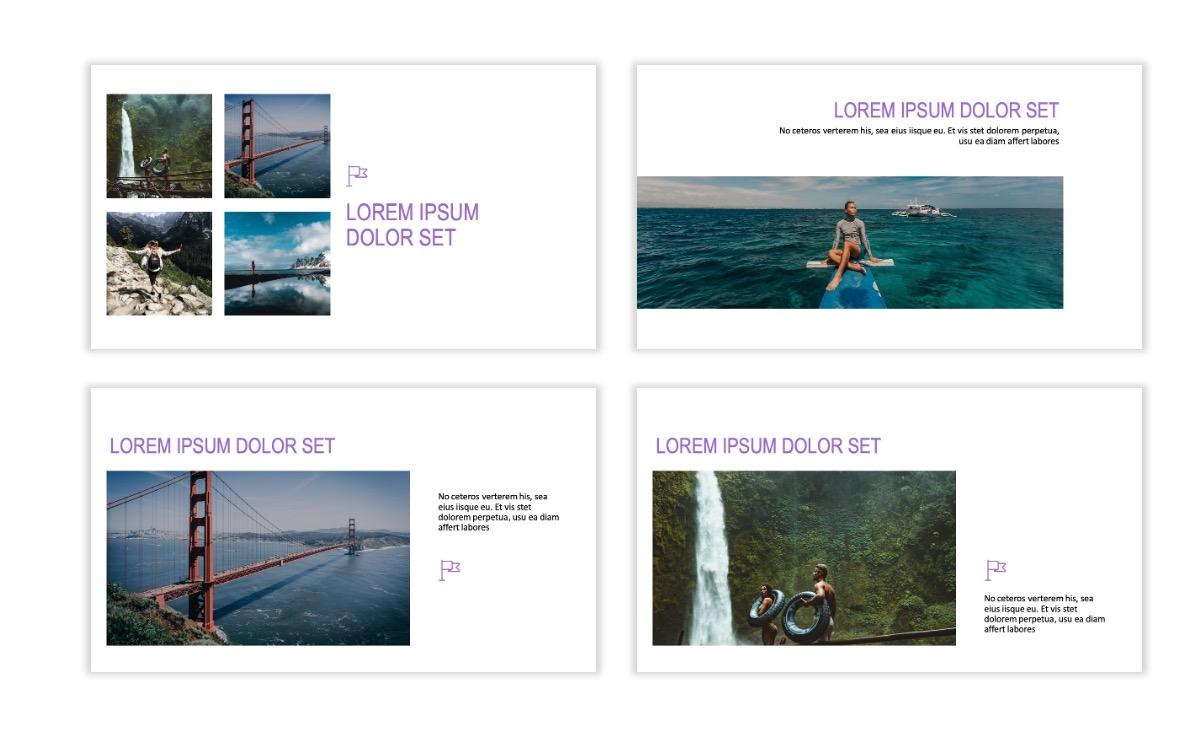 ROME - Travel - Purple - Aesthetic - Clean - Minimal Slide 6