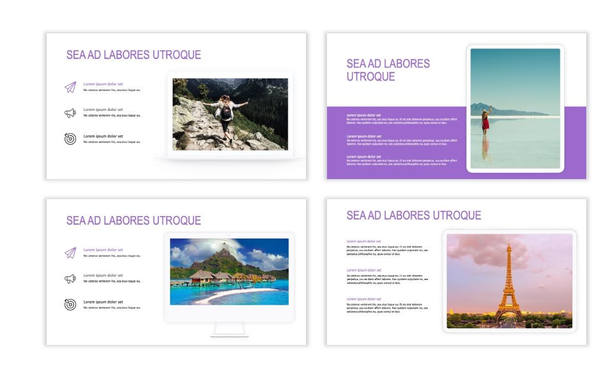 ROME - Travel - Purple - Aesthetic - Clean - Minimal Slide 9