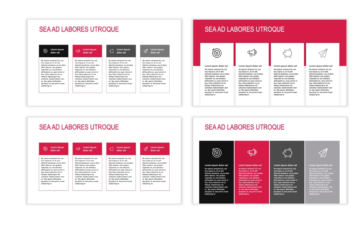 ROME - Travel - Red - Aesthetic - Clean - Minimal Slide 12
