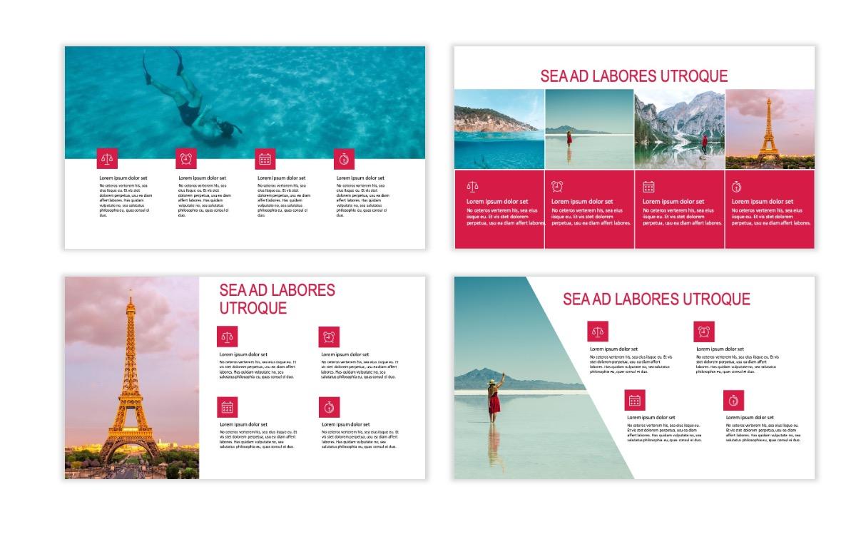 ROME - Travel - Red - Aesthetic - Clean - Minimal Slide 13