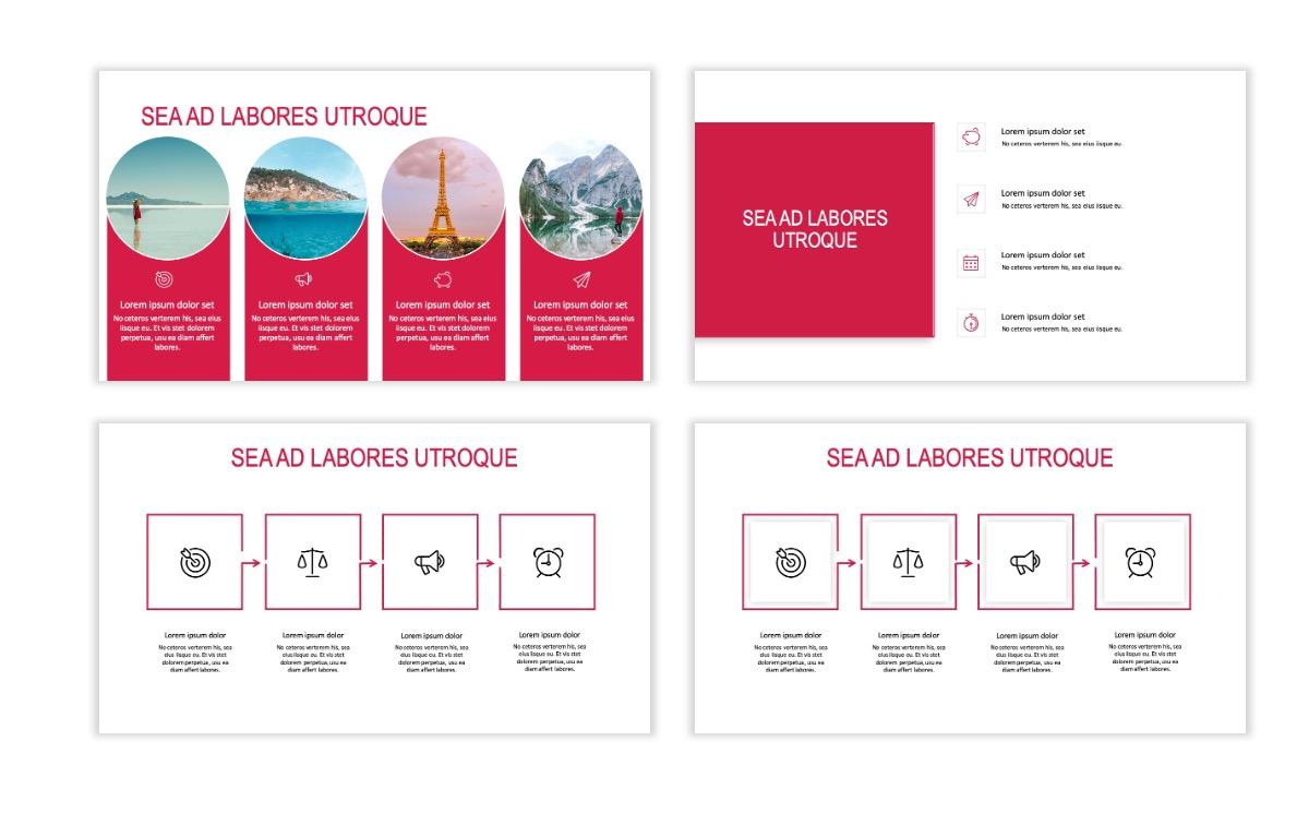 ROME - Travel - Red - Aesthetic - Clean - Minimal Slide 14