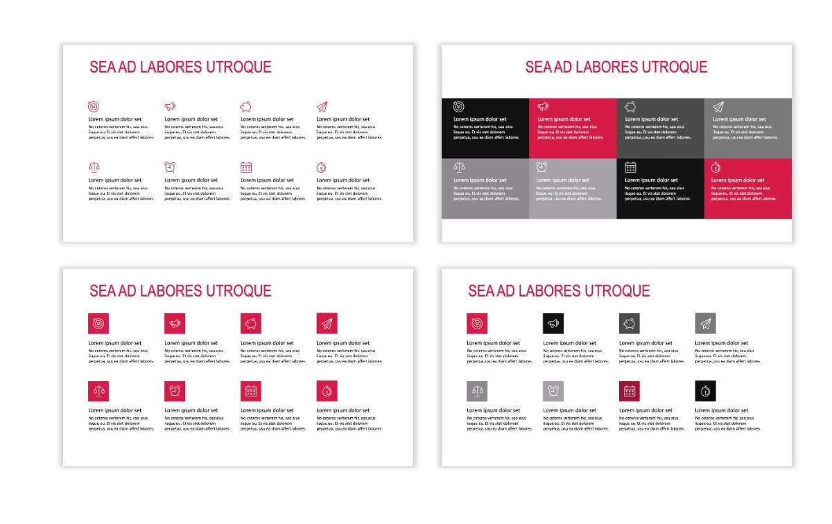 ROME - Travel - Red - Aesthetic - Clean - Minimal Slide 17