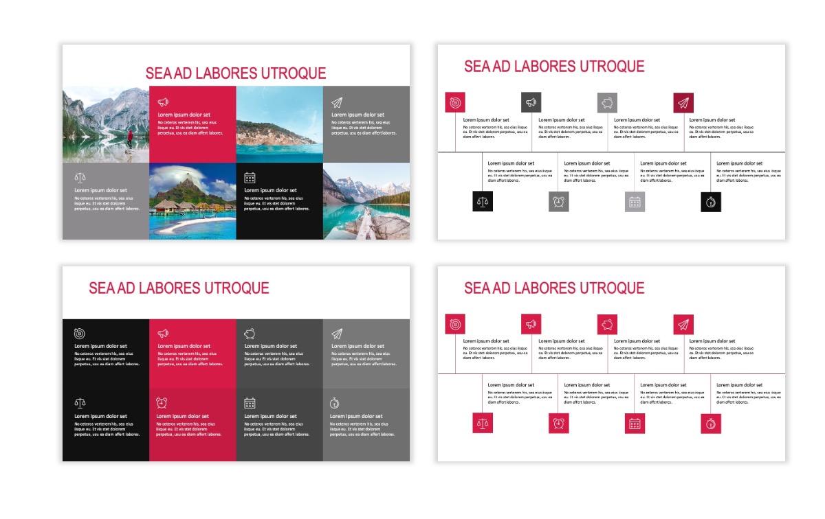 ROME - Travel - Red - Aesthetic - Clean - Minimal Slide 18