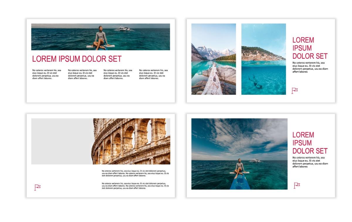 ROME - Travel - Red - Aesthetic - Clean - Minimal Slide 4