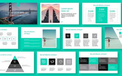 ROME TRAVEL TEAL FREE POWERPOINT TEMPLATE