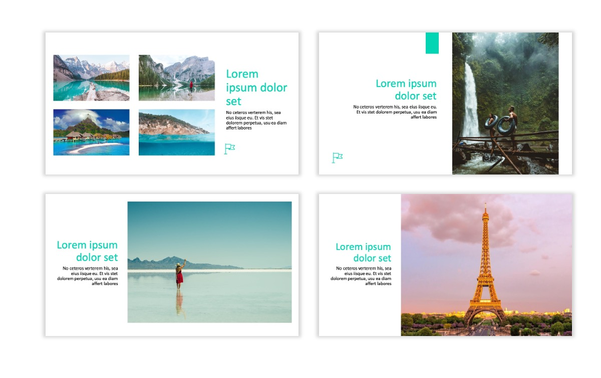 ROME - Travel - Teal - Aesthetic - Clean - Minimal Slide 5