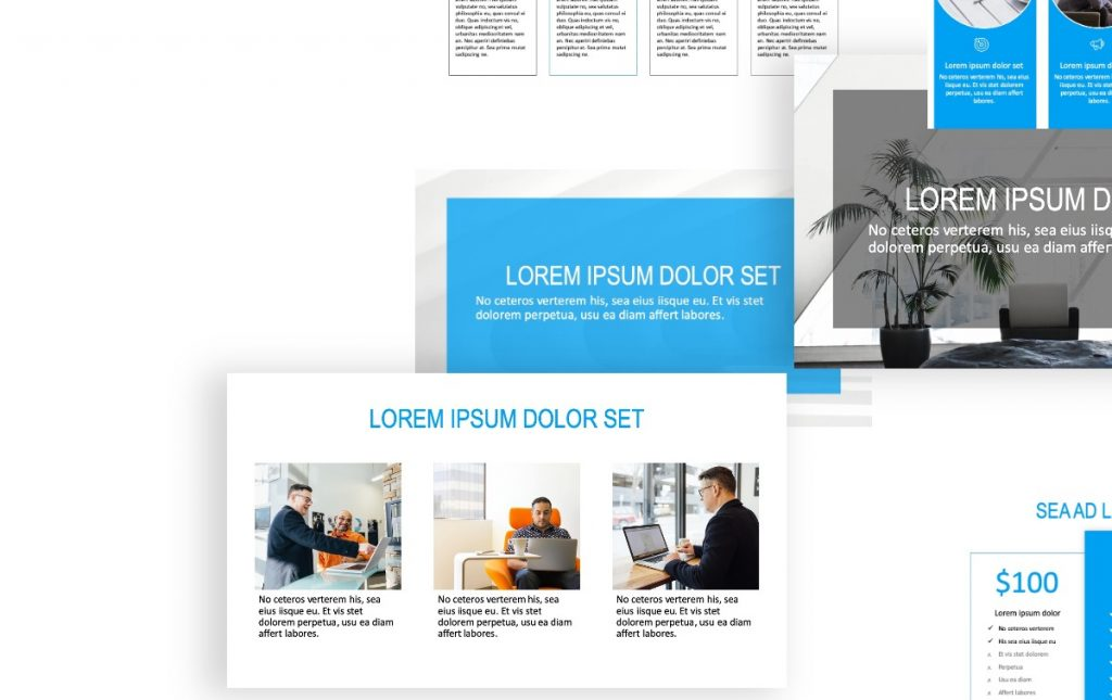 Rome Simple Blue Free PowerPoint Template