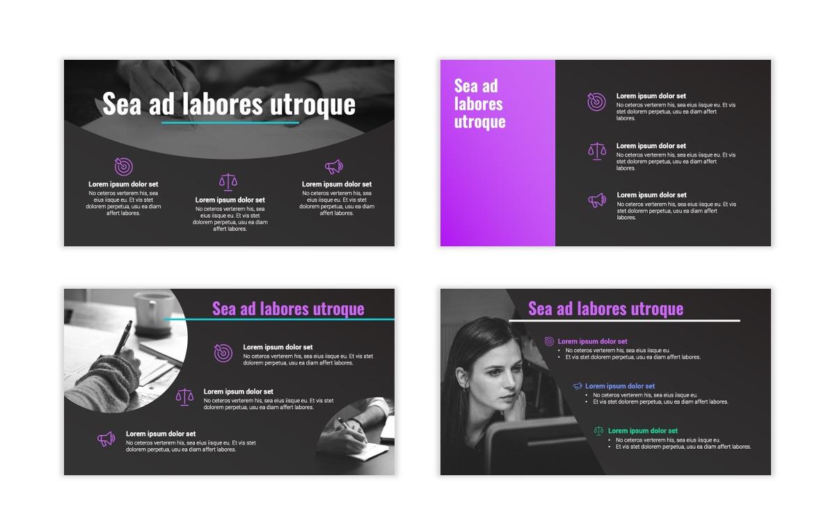 Syndey Purple Free PowerPoint Template Slide10