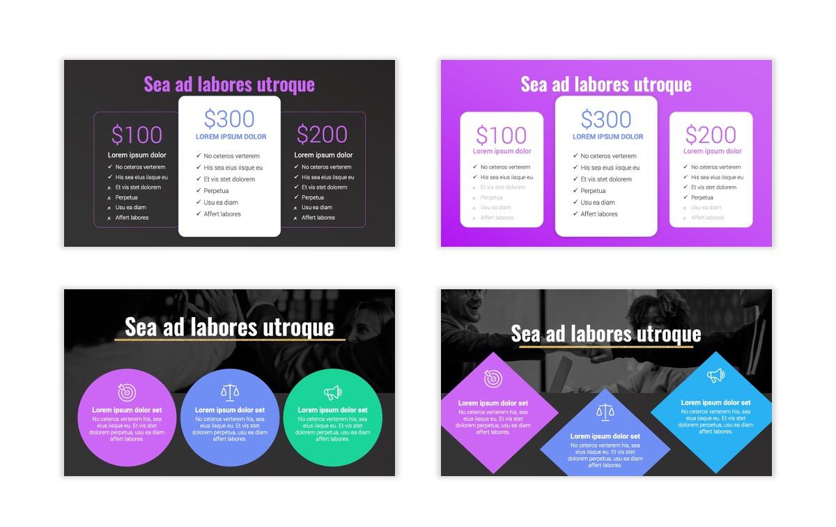 Syndey Purple Free PowerPoint Template Slide12