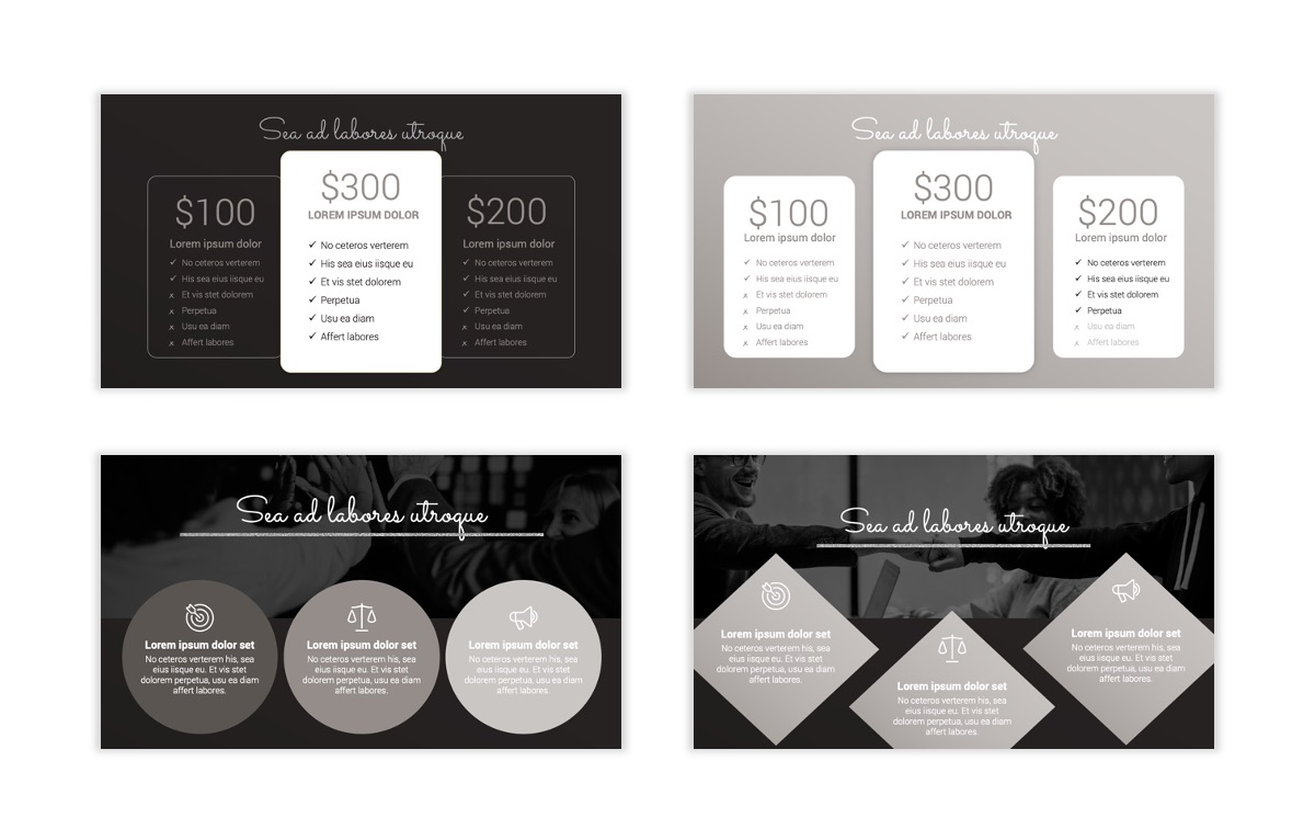 Syndey Black and Silver Free PowerPoint Template