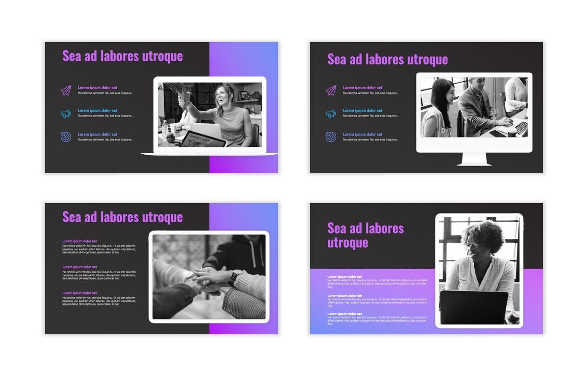 Syndey Purple Free PowerPoint Template Slide14
