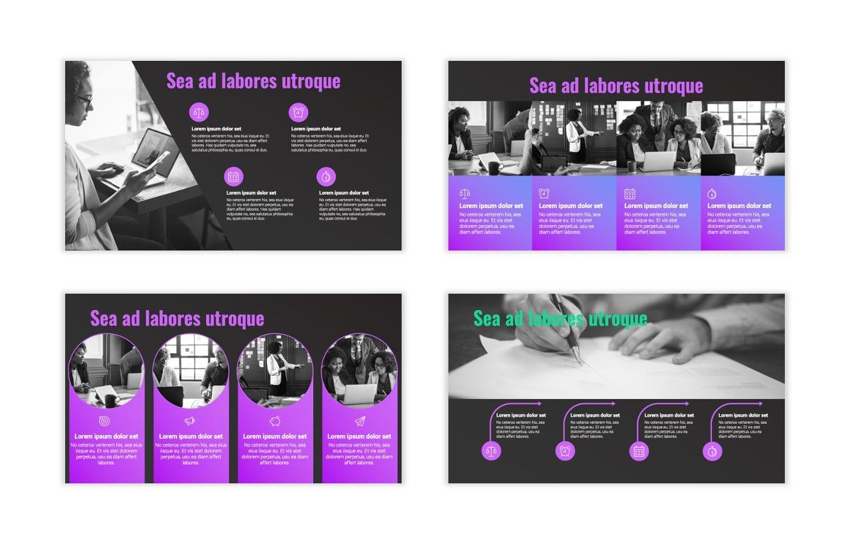 Syndey Purple Free PowerPoint Template Slide18