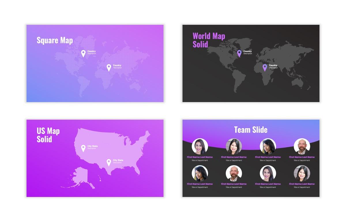 Syndey Purple Free PowerPoint Template Slide28