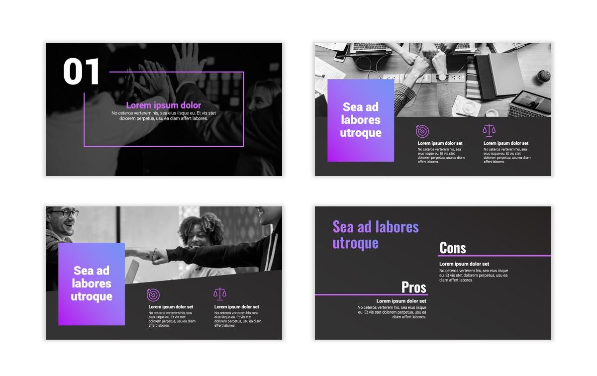 Syndey Purple Free PowerPoint Template Slide3